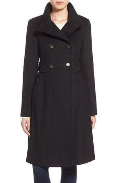 Eliza J Wool Blend Long Military Coat (Regular & Petite) available at #Nordstrom