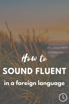 Sound more fluent when speaking a foreign language, regardless of the level of fluency you're currently at!
