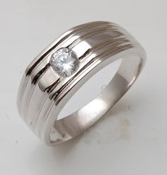 Pin Ring Silver Men Women Handmade Fashion Accessories Size 10 on ...
