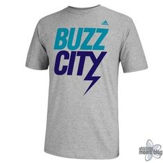 2730ba5fe76 Buy adidas Charlotte Hornets Buzz City T-Shirt - Ash from the Online Store  of the Charlotte Hornets. Hornets fan buy adidas Charlotte Hornets Buzz  City ...