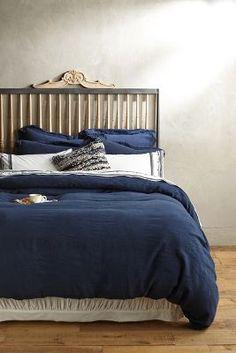 Bettdecke aus weichem, gewaschenem Leinen
