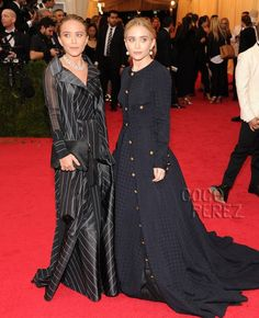 met gala 2014 mary kate olsen ashley olsen red carpet.mildred moda