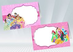 Disney Princess Food Tent / Food Label by DigiPartyShoppe on Etsy, $4.00
