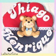 Porta Maternidade urso feltro