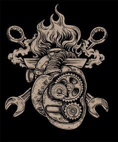 Drawings or Jeep Tattoo's - Page 9 Gear Tattoo, Tool Tattoo, Racing Tattoos, Biker Tattoos, Men Tattoos, Body Art Tattoos, Sleeve Tattoos, Tatoos, Mechanic Tattoo