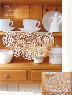 Home Decor Crochet Patterns Part 75 - Beautiful Crochet Patterns and Knitting Patterns Crochet Dollies, Crochet Doily Patterns, Crochet Chart, Baby Knitting Patterns, Crochet Motif, Knit Crochet, Crochet Books, Crochet Home, Thread Crochet