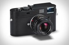 """Leica M Monochrom Camera. Billed as """"the world's first digital camera exclusively for full-frame, 35mm black-and-white photography,"""" the Monochrom features an 18 megapixel CCD that records true luminance values — in other words, it doesn't """"see"""" colors — as well as a rugged, rangefinder-style build, ISO up to 10,000, a 2.5-inch LCD, a maximum shutter speed of 1/4000 sec, SD/SDHC storage, and compatibility with the full range of Leica M lenses."""