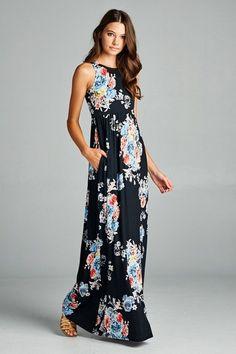 Bunch of Floral Dress : Black