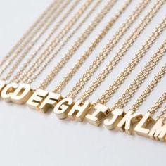 MYRIAD INITIALS NECKLACE ( Gold Typ