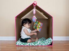 Baby-Deco: Diy: Casitas para jugar con Cajas de cartón,  cardboard playhouse or dollhouse