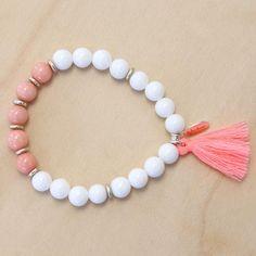 Semi-precious Stone Bracelet with Tassel