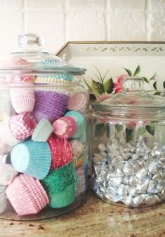 Keep the remaining cupcake cases in a large jar to stay organized by seeing what…