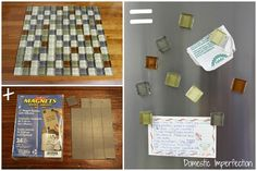 Tile magnets--Brilliant, now I can have magnets that match my kitchen tile