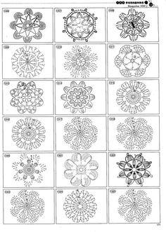 Crochet pattern by Denise Marie Dempsey Filet Crochet, Freeform Crochet, Crochet Diagram, Crochet Chart, Thread Crochet, Irish Crochet, Diy Crochet, Crochet Doilies, Crochet Flowers