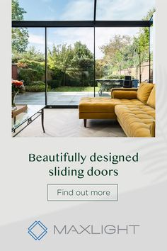 Bring gorgeous natural light and space into your home with Maxlight sliding glass doors. Luz Natural, Natural Light, Open Plan Kitchen Living Room, Open Plan Living, House Extension Design, House Design, Sliding Glass Door, Glass Doors, Dream House Exterior