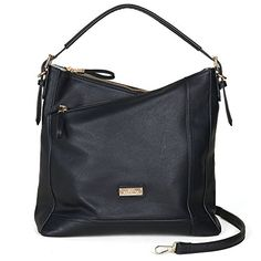 Saint Sabrina Womens Concealed Carry Moxie Asymmetrical Hobo Black ** See this great product.Note:It is affiliate link to Amazon.