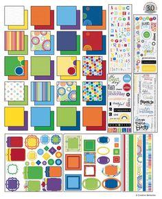 cheerful digital power palette from creative memories