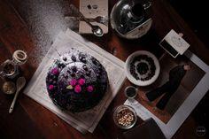 Blueberry Ube Moist Cake | FOOD PHOTOGRAPHY Ube, Moist Cakes, Blueberry, Food Photography, Tray, Cupcakes, Kuchen, Lifes Too Short, Berry