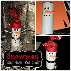 DIY Snowman Toilet Paper Roll Craft For Kids (Cute Christmas Project) http://www.sassydealz.com/2013/11/diy-snowman-toilet-paper-roll-craft-for.html
