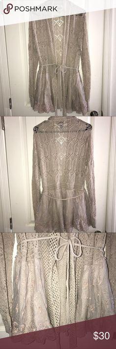 La Seine Lace Knit Cardigan Size XL .  Receive 15% off when you bundle 3+ items! La Seine  Sweaters Cardigans