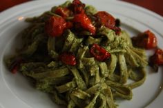 Stilton, Asparagus And Cherry Tomato Tagliatelle Recipe — Dishmaps