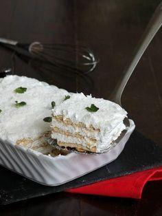 MPOWER/// SEMIFREDDO 3 MINUTI ALLO YOGURT ricetta dolce con biscotti
