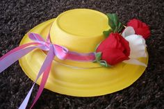 Homemade Easter hats, easy and fun for the kids, made with paper plates and bowls, decorate as crazy and colorful as you wish.