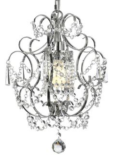 Chrome Gallery Crystal Chandelier