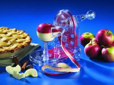 Make your daily peeling easier with Starfrit Apple Peeler Core Slicer. Takes up to to peel an apple, you can peel potatoes too. Cool and awesome gadget Clever Gadgets, Cool Kitchen Gadgets, Cool Kitchens, Kitchen Stuff, Kitchen Tools, Cheap Gadgets, Funky Kitchen, Awesome Kitchen, Kitchen Items