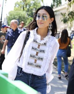 Justine Lee in Chanel Couture fashion week Paris 2017