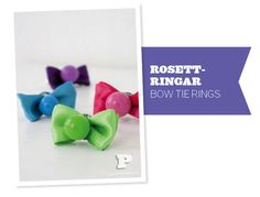 Bow tie rings - kid party favors