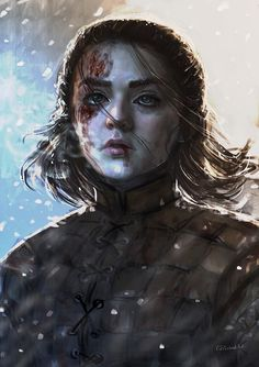 Arya Stark by Geirahod on DeviantArt - Fantasy Book Arte Game Of Thrones, Game Of Thrones Arya, Game Of Thrones Tattoo, Fantasy Books, Fantasy Art, Arya Stark Art, Tolkien, Mujeres Tattoo, Film Manga