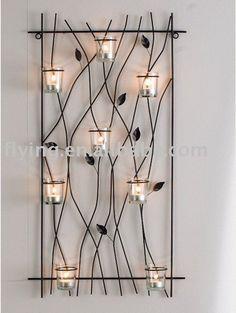 Metal wall mounted tealight candle holder, wall candle holder, kerzenhalter, HWW-83141