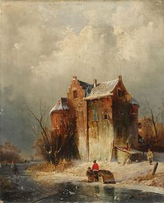 Charles Leickert, WINTER LANDSCAPE WITH A FROZEN RIVER, Auction 947 Old Masters, Lot 1309
