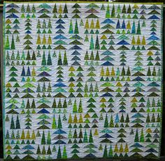 geese in the forest by Tina ~ Seaside Stitches, via Flickr. Something I really like about this pattern. Maybe use lilac white for background and strong lilac colors for geese?