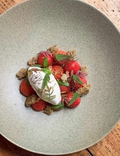 Tommy Banks from The Great British Menu and head chef at The Black Swan, Oldstead, shares his dessert recipe for strawberries with herbs and hay Tart Recipes, Chef Recipes, Tommy Banks, Great British Menu, Hotel Food, Summer Dessert Recipes, Pink Foods, Strawberry Recipes, Food Art