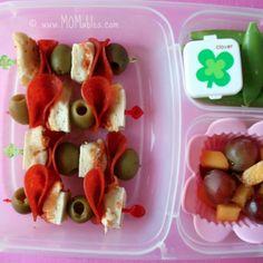 Cute Leftover Pizza Swords make a kids lunch fun.