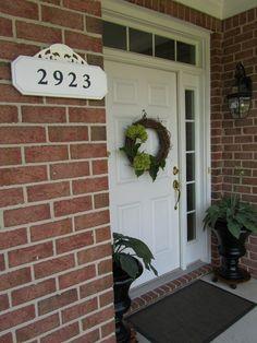 Missy Exterior On Pinterest Address Plaque Front Door Wreaths And Wreaths