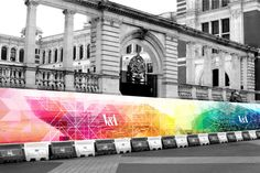 Keeping the public informed and excited in anticipation of the redevelopment of London's iconic Victoria and Alfred Museum of Art and Design was one of the primary objectives for the developers of this mammoth project. The concept is for the construction… Environmental Graphics, Environmental Design, Fence Design, Sign Design, Hoarding Design, Museum Branding, Building Signs, Real Estate Site, Outdoor Signage