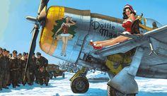 P-47D Thunderbolt 'Dottie Mae' by Romain Hugault