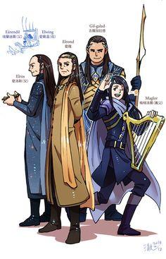 Elves- Credit to original artist Legolas, Aragorn, Thranduil, Live Action, Das Silmarillion, Gil Galad, Glorfindel, Lotr Cast, O Hobbit