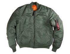 Alpha Industries MA-1 intermediate airman's flight jacket, olive