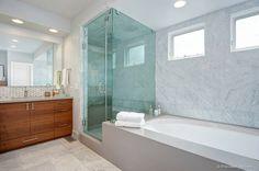 Modern Master Bathroom by Design Theory Studio