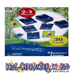 In the Night Garden Memory Card Game $11.95 (eBay Store: kidscharacterworld2013 email:  kidscharacterworld@live.com.au) http://www.ebay.com.au/itm/In-the-Night-Garden-Memory-Card-Game-Crown-Products-New-Kids-Girls-Licensed-BNIP-/181326645039?