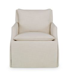 Curated Kravet READY TO SHIP MURCIA SWIVEL CHAIR QR-11050.CREAM.0 - Kravet Curated - New York