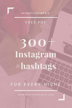 Want to grow your Instagram? Using targeted hashtags you can grow your following quickly and easily. This free resource contains hashtags for major blogging niches, creative businesses, travel, photography, beauty and fashion. An ultimate cheatsheet for b
