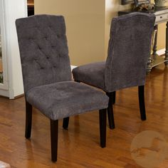Christopher Knight Home Crown Top Dark Grey Dining Chairs (Set of 2) | Overstock.com Shopping - The Best Deals on Dining Chairs