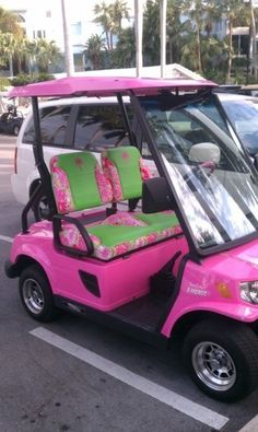 Lily Pulitzer Golf Cart