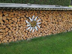 Edelweiss, Holz, Brennholz, Kunst, Holzstapel