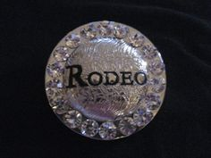 Silver Toned Crystal Rodeo Removable Pendant by cthorses66 on Etsy, $9.99